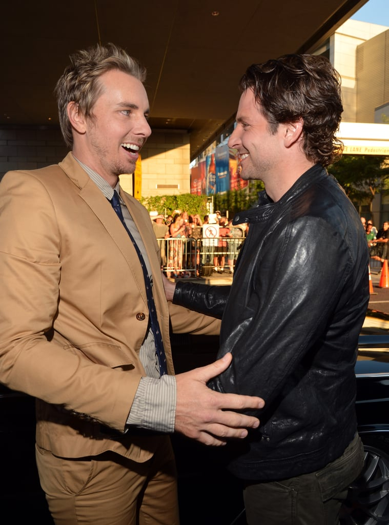 """Bradley Cooper only worked with Dax Shepard for one day on the set of The Comebacks. According to an interview that he gave after the fact in 2009, though, that was all he needed: """"Although we only worked one day together on a movie called The Comebacks, I had a huge bromance with Dax Shepard. I'm the type of guy who falls in love fast."""""""