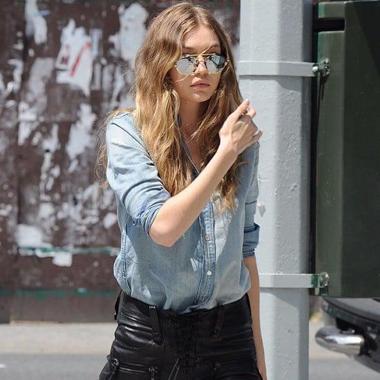 Gigi Hadid's Hadid Denim Shirt June 2016