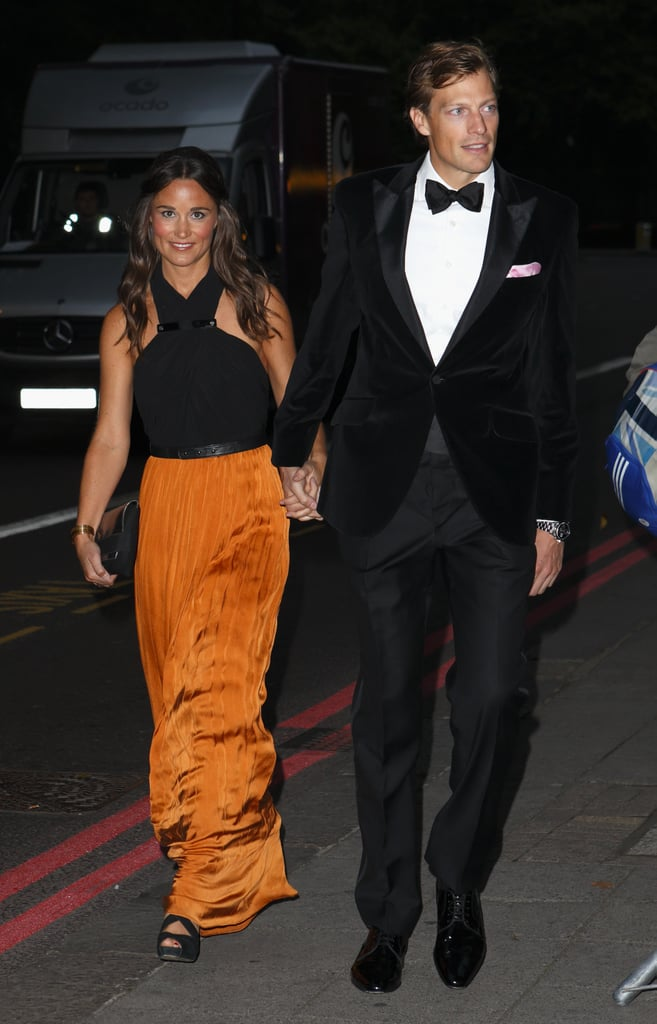 Pippa Middleton is no stranger to minidresses, but we loved seeing her in this two-tone halter gown at the Boodies Boxing Ball in London.
