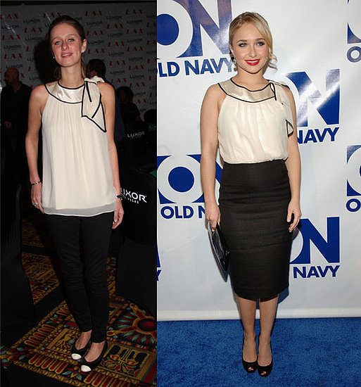 Who Wore It Better? Nu Collective Ivory Chiffon Tie Blouse