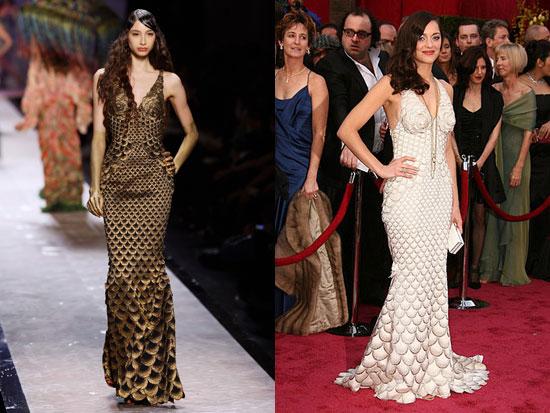Marion Cotillard's Oscar Dress, From Runway to Red Carpet