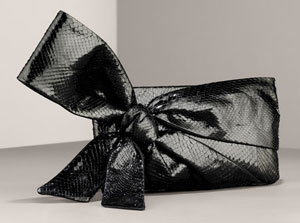 The Look For Less: Valentino Python Bow Clutch