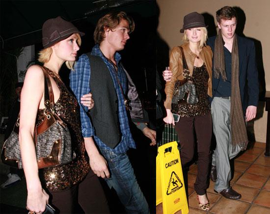 Paris Hilton leaves Goa With Alex Vaggo and Baron Hilton