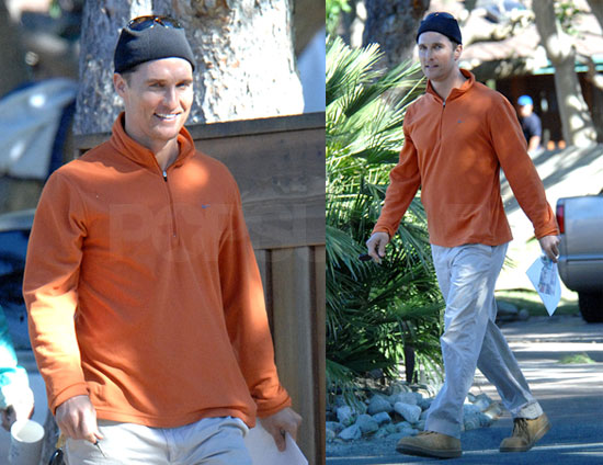Father To Be Matthew McConaughey Spotted in LA