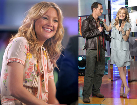 Fool's Gold Stars Kate Hudson and Matthew McConaughey at TRL on Feb. 5, 2008