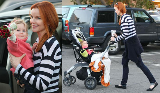 Marcia Cross and Twins Eden and Savannah shop in LA on February 7 2008 2008-02-10 06:53:34