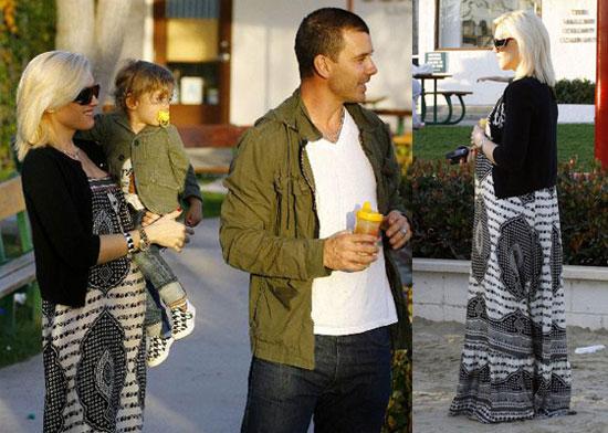 Gwen Stefani With Gavin Rossdale and Son Kingston