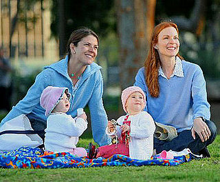 Marcia Cross with Eden and Savannah Mahoney Play in a LA Park