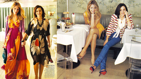 Leighton Meester and Blake Lively For Vogue
