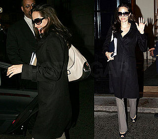 Angelina Keeps Her Popular Baby Bump All Covered Up