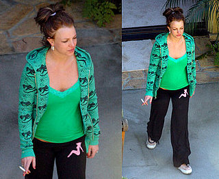 Britney Spears smoking at her home in LA