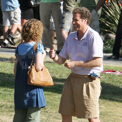 Will Ferrell on the Set of Land of the Lost
