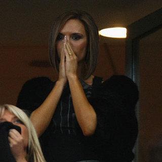 Victoria Beckham Watches David's Game