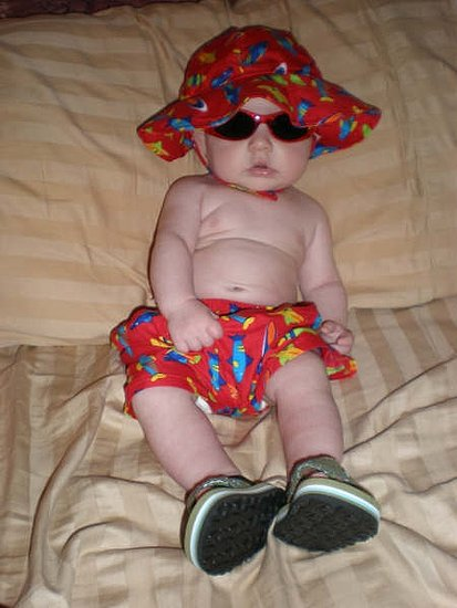 LOLOLOL Ready for the beach!  (Not yet, son....)