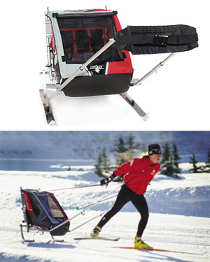 Chariot Child Strollers Allows You to Ski With Your Kids