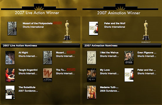 Have Your Own Oscar Shorts Screening, Courtesy of iTunes