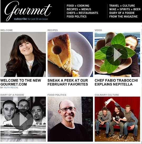 Yummy Link: Gourmet Breaks Away From Epicurious