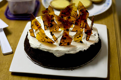Yummy Link: Mocha Cake with Coffee Bean Brittle