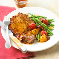 Fast & Easy Dinner: Pork Chops Primavera