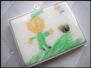 Children's Artwork Necklace