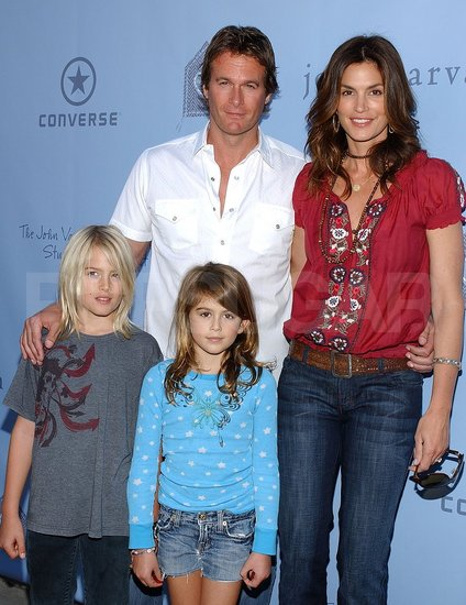 Cindy Crawford and hubby Randy Gerber attended the John Varvatos 6th Annual Stuart House Benefit with kids Presley and Kaya.