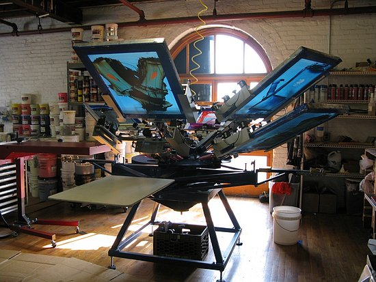 Quist Industries Screenprinting Studio In Redhook Brooklyn