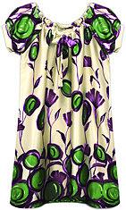painterly poppy dress