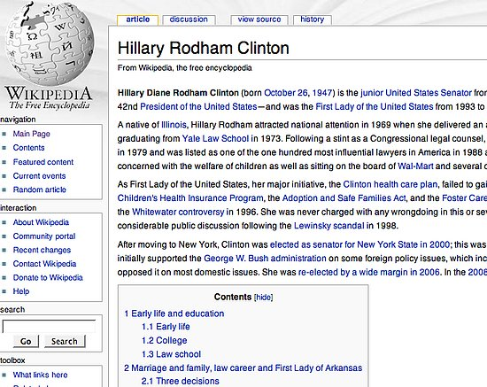 Citation Needed! Wikipedia Police Protect Clinton and Obama