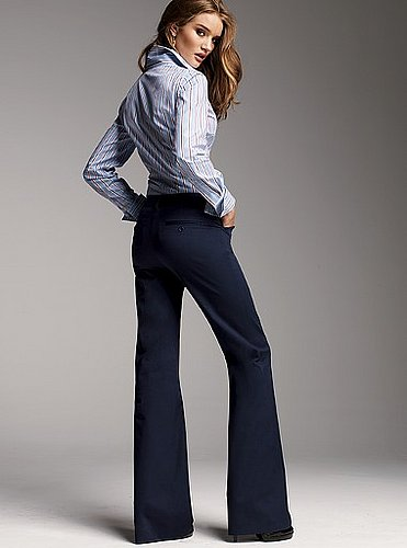 The Christie Fit flare pant in stretch cotton