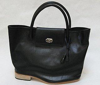 Freaky or Fabulous? A'N'D Large Flat Heel Turn Lock Tote Bag