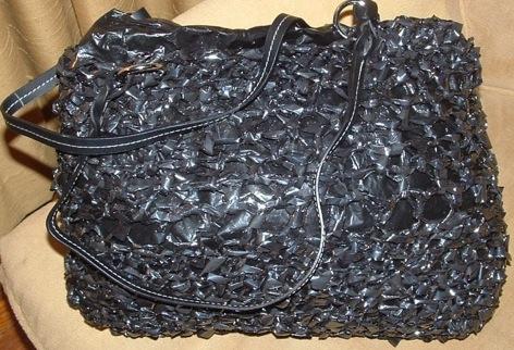 Crocheted VHS Tape Bag . . . Enough Said