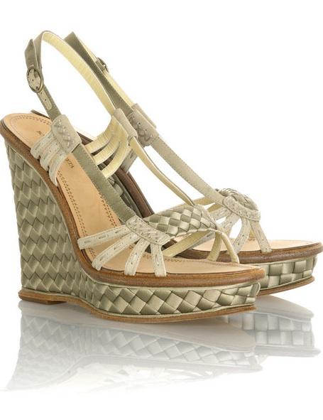 Bottega Veneta Intrecciato Wedge Sandals