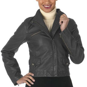 Fabworthy: Mossimo Faux Leather Biker Jacket