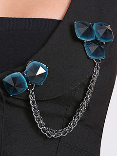 Fabworthy: Arden B Faceted Double Brooch