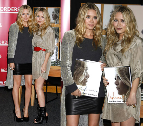 Mary-Kate and Ashley Olsen Promote Their Book Influence at a Borders in Westwood yesterday