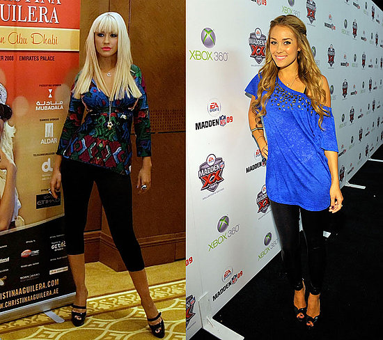 Lauren Conrad and Christina Aguilera Wear Black Leggings
