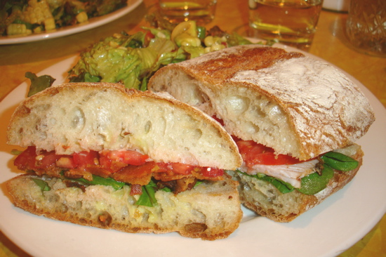 Pancetta, Mizuna, And Tomato Sandwiches With Green Garlic Aioli Recipe ...
