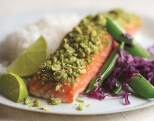 Fast & Easy Dinner: Crunchy Wasabi Salmon
