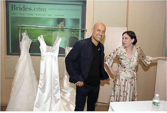 Famous wedding gown designer Angel Sanchez and Editor-in-chief of Brides.com Michelle Preli!
