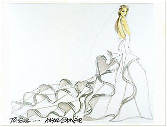 The dress Angel Sanchez designed for Eva Longoria!