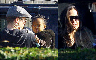 Zahara's Post B-Day Day Out With Brad and Angelina