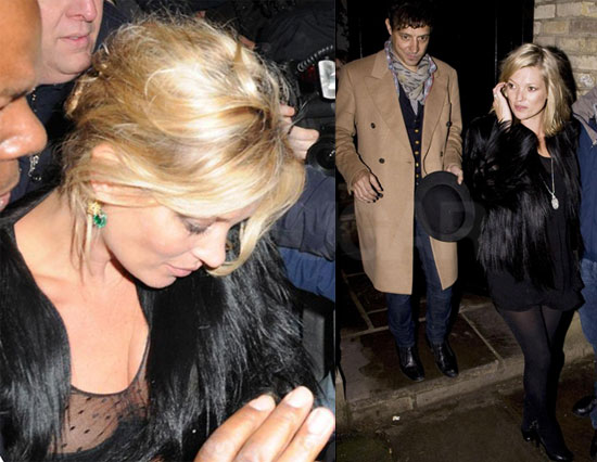 Photos of Kate Moss and Jamie Hince Heading Out on Her Birthday