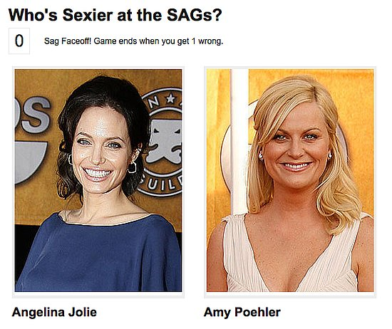 Play New Who Was Sexier at the SAGs Award Show Faceoff!