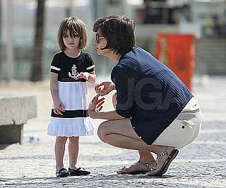 Photo of Katie Holmes and Suri Cruise at the Copacabana Beach in Rio
