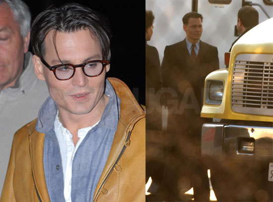 Johnny Depp Greets Fans on the Set of Public Enemies