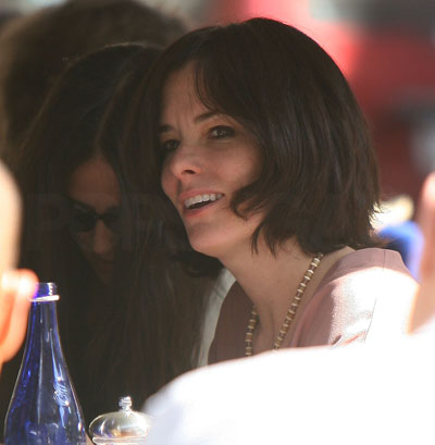 Parker Posey and Demi Moore at Lunch
