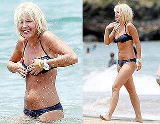 Elisha Cuthbert Avoids A Nip Slip Showing Off Her Bikini Body in Hawaii
