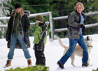 Photos of Jennifer Aniston and Owen Wilson on the set of Marley and Me in Philadelphia