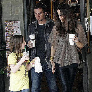 Kate Beckinsale, Len Wiseman and Lily Sheen Get Starbucks