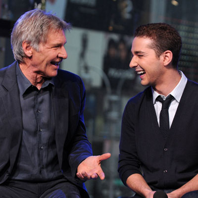 Harrison Ford and Shia LaBeouf at TRL